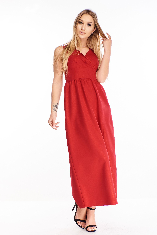 Červené plesové šaty - 44
