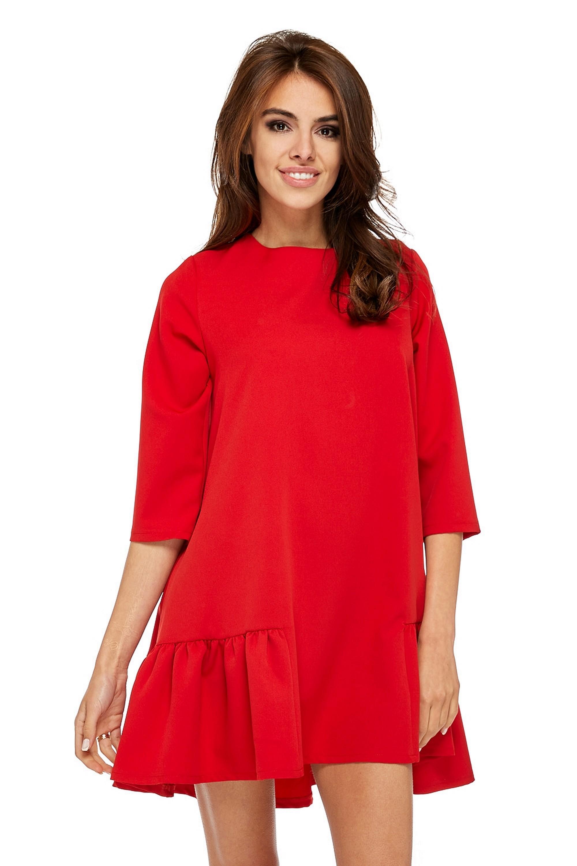 Jednoduché oversize šaty červené - L