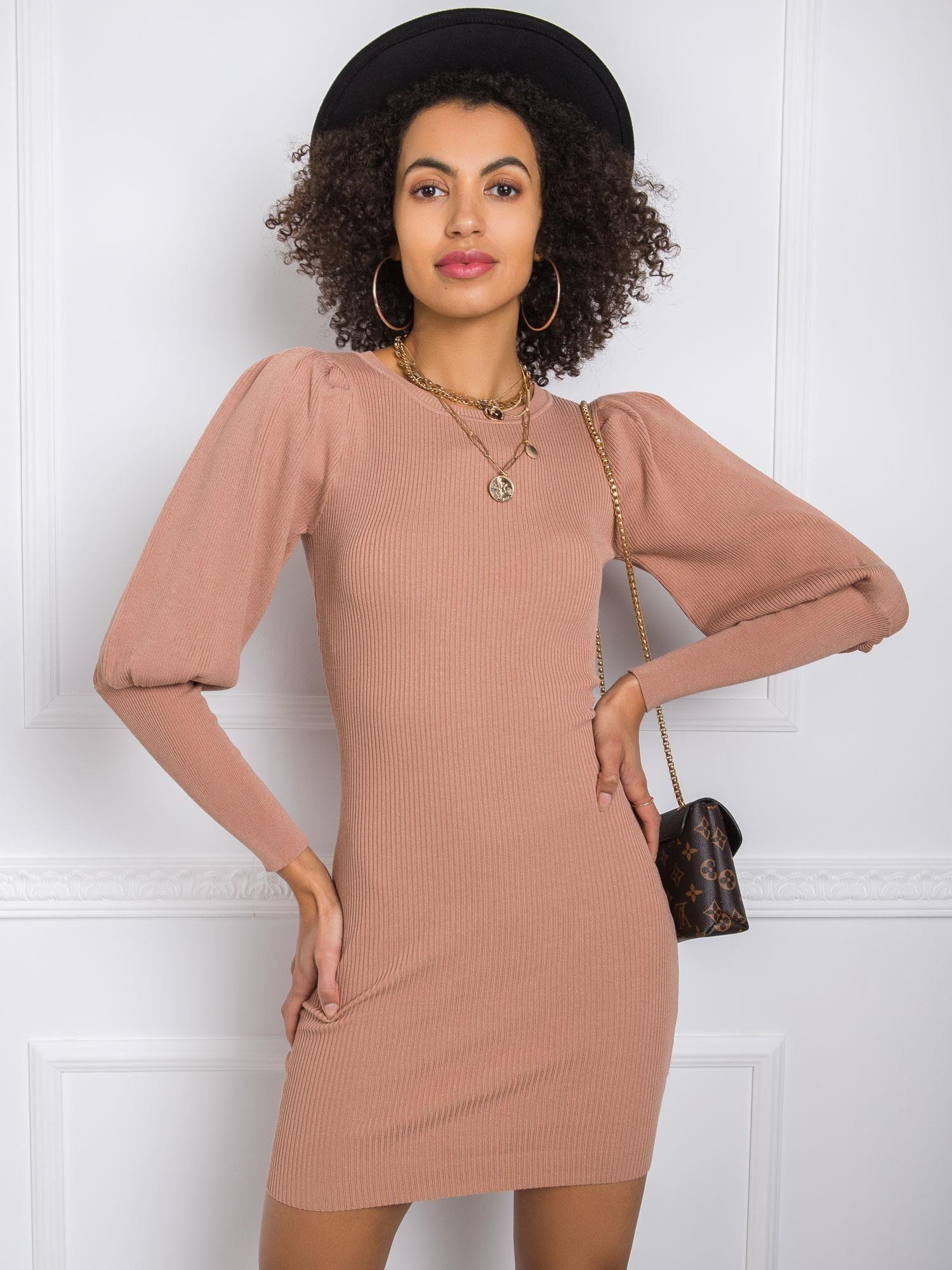 Dámske hnedé šaty - XS/S