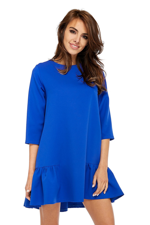 Jednoduché oversize šaty modré