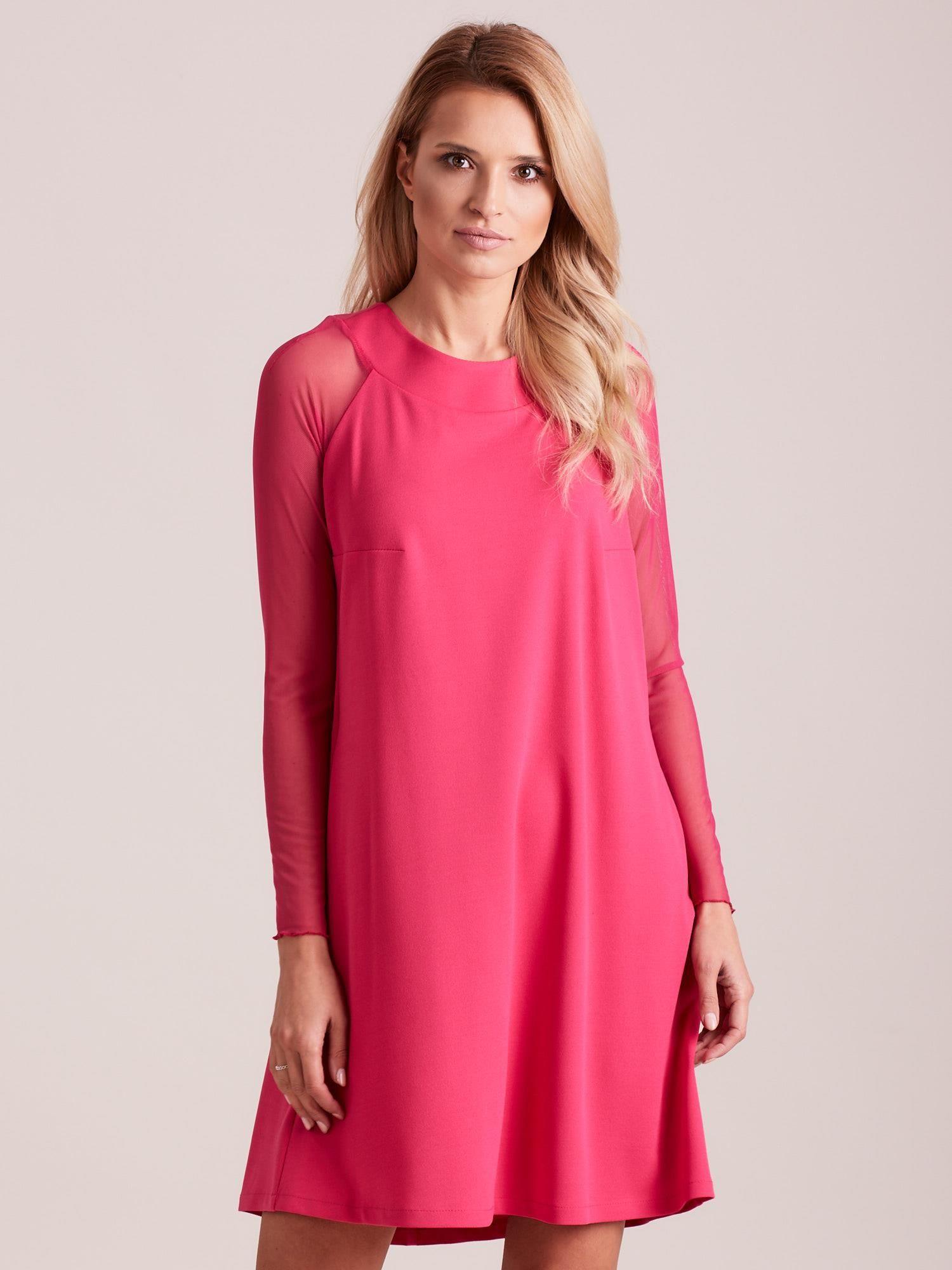 Dámske ružové šaty so šnurovaním - 42