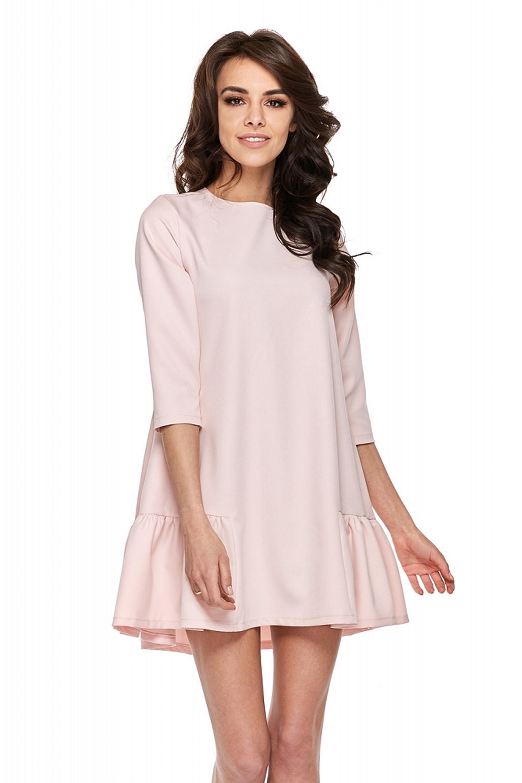 Jednoduché oversize šaty ružové - L