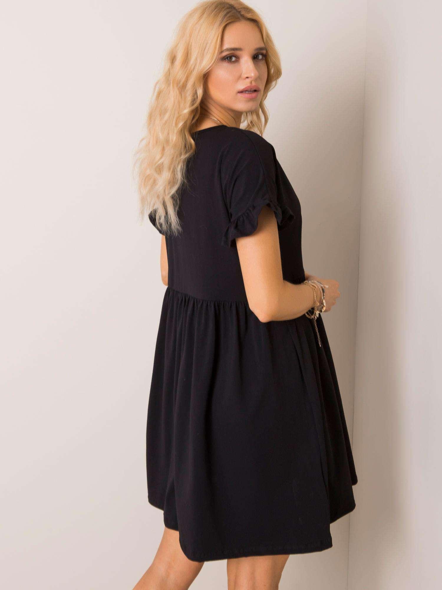 Čierne oversize šaty - M