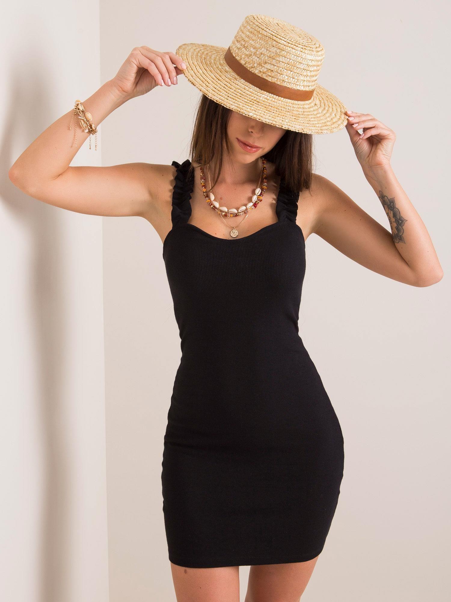 Krátke čierne šaty - M