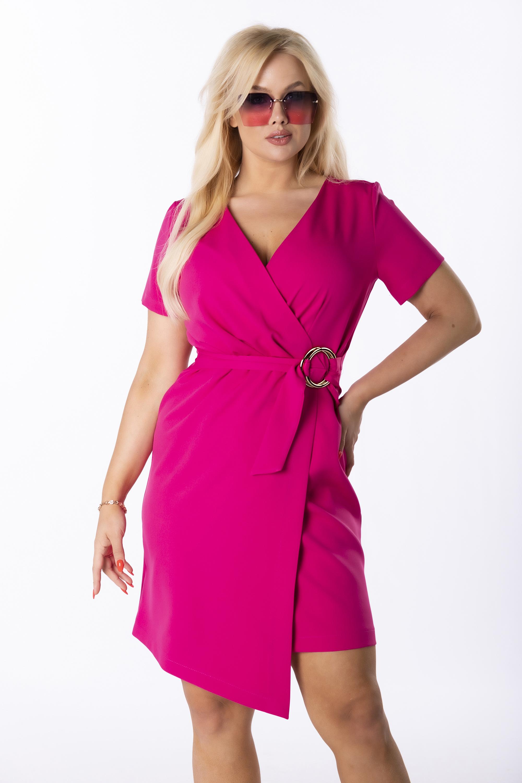 Ružové zavinovacie šaty - 42