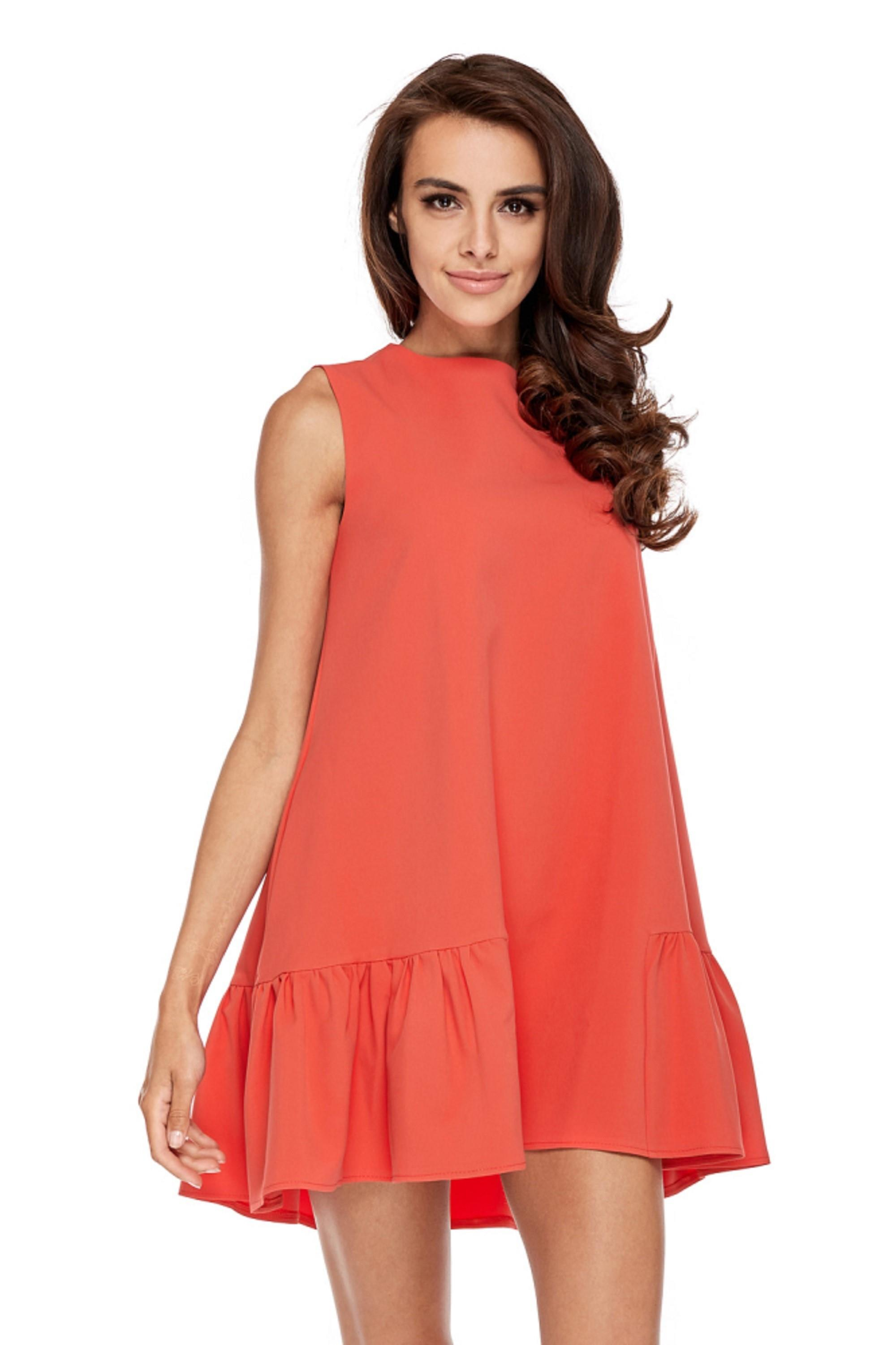 Oranžové áčkové šaty - L