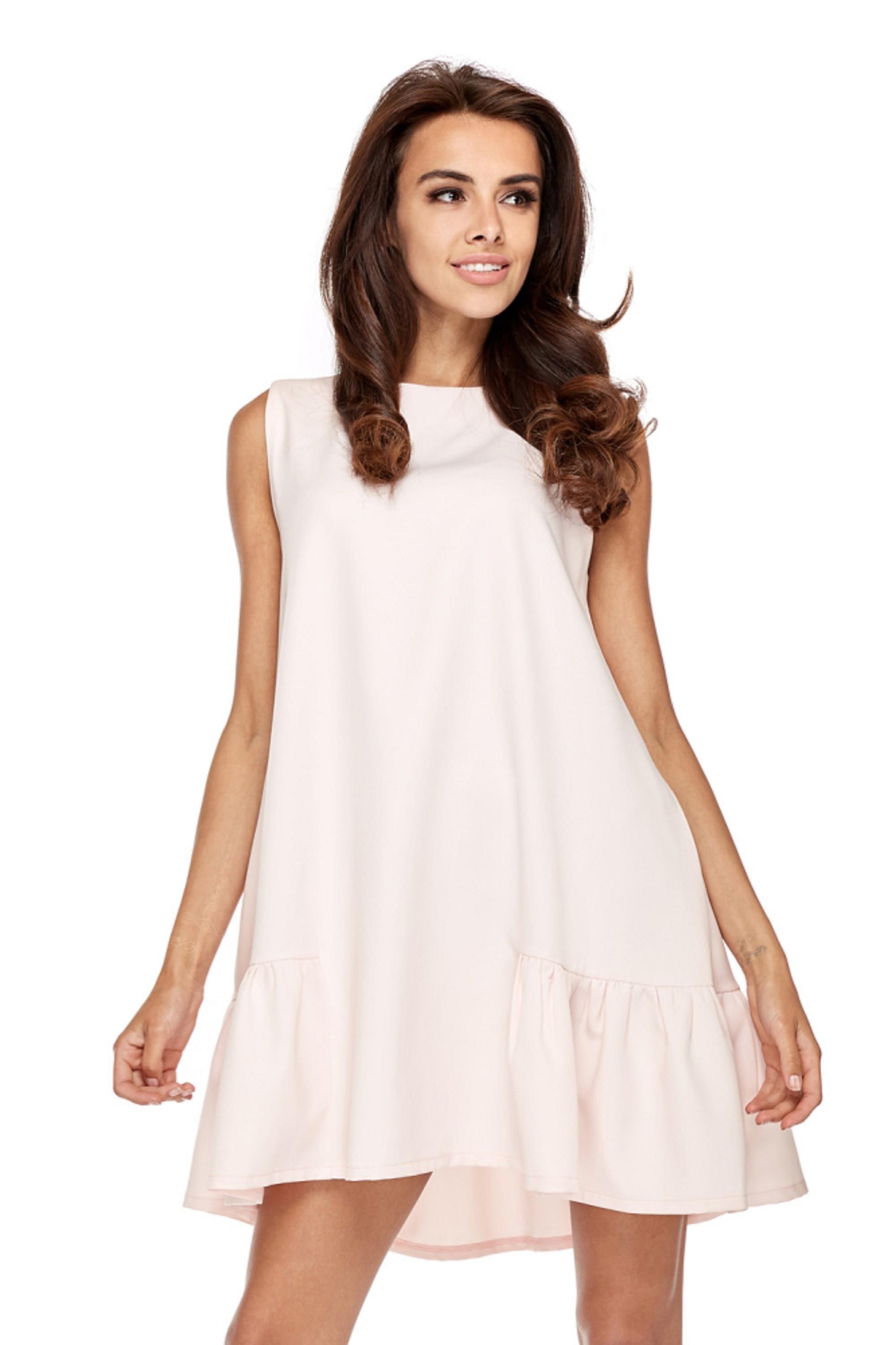 Ružové áčkové šaty - S
