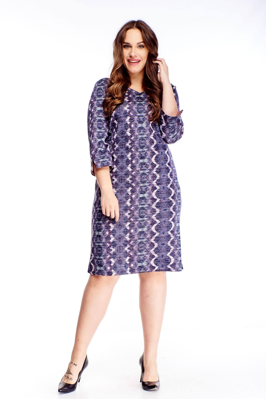 Puzdrové krátke šaty s bielym vzorom fialové - 48