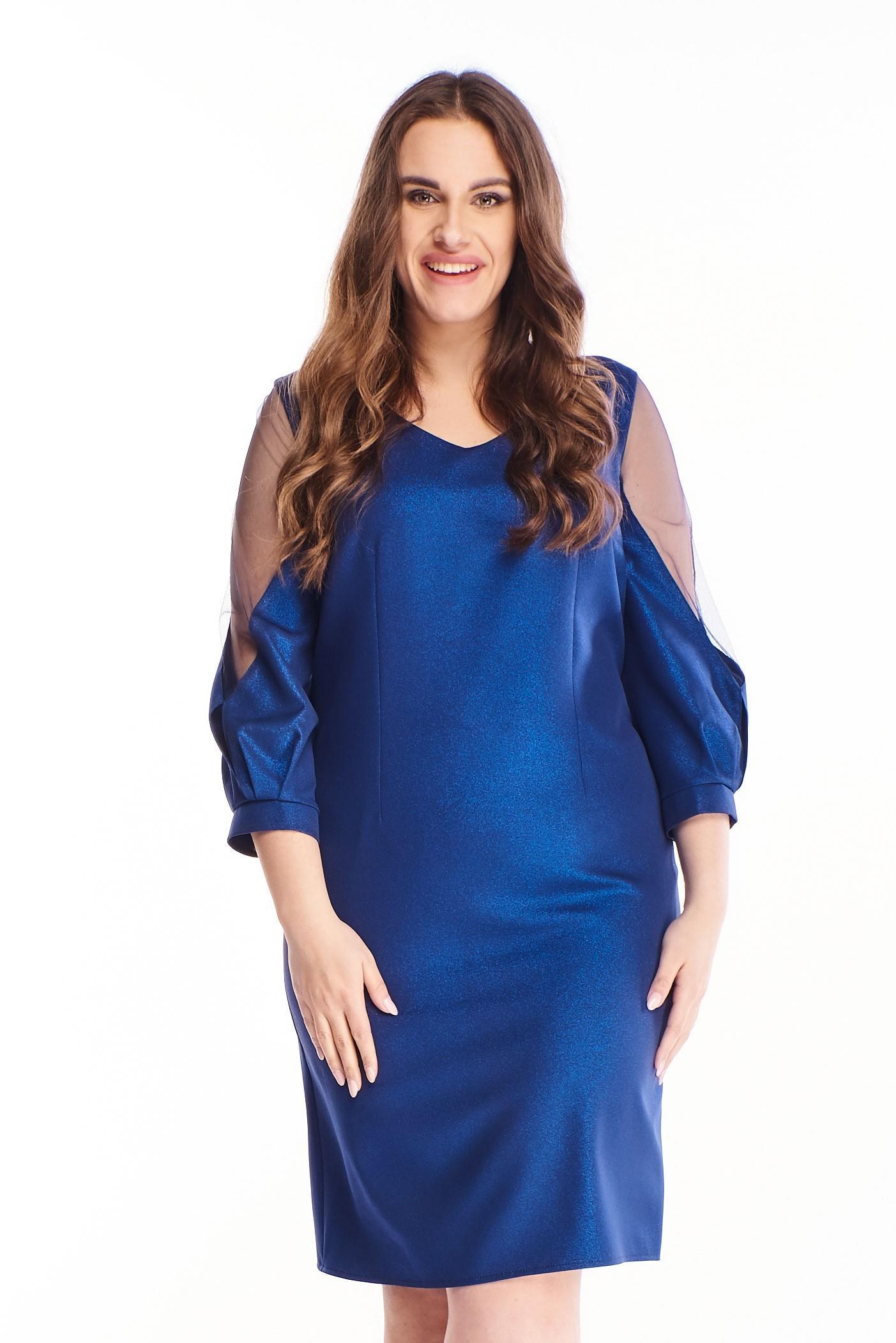 Spoločenské šaty v námorníckej modrej