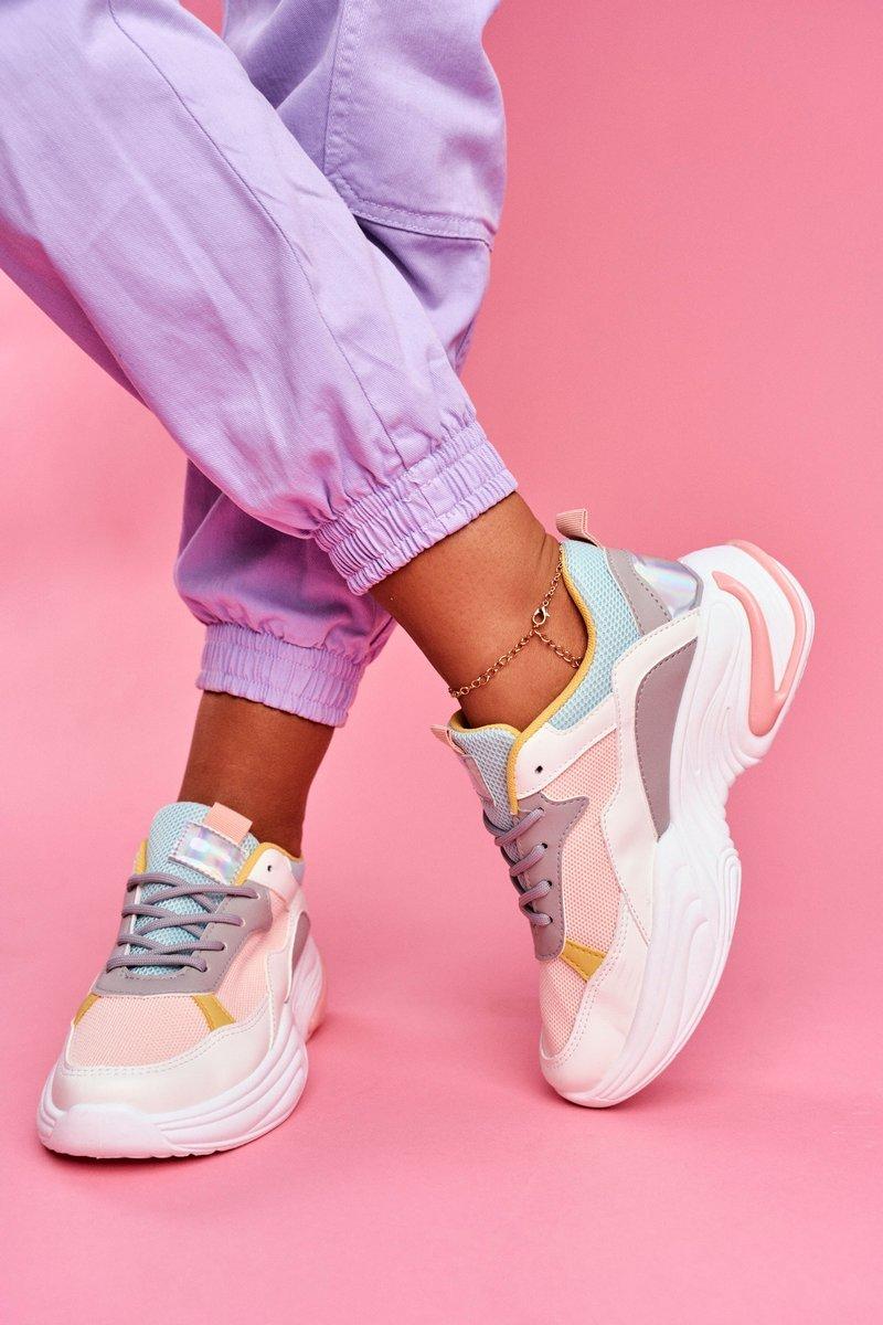 Viacfarebné dámske športové topánky - 41