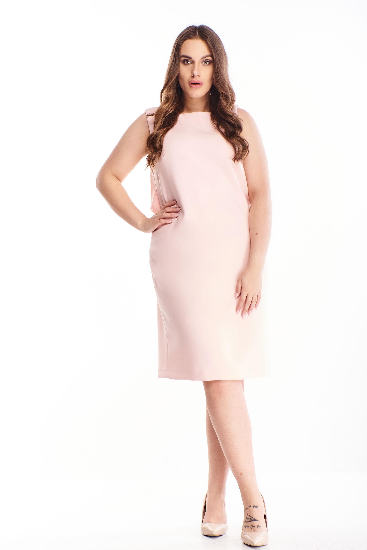 Puzdrové šaty na ramienka ružové - 38