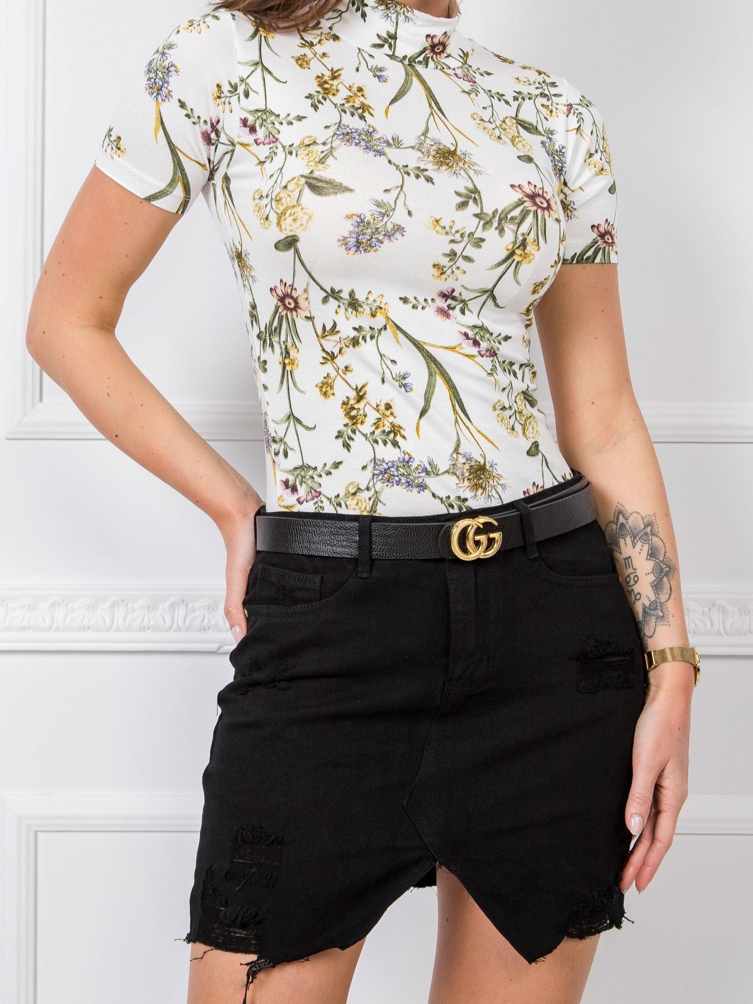 Čierna asymetrická rifľová sukňa - L