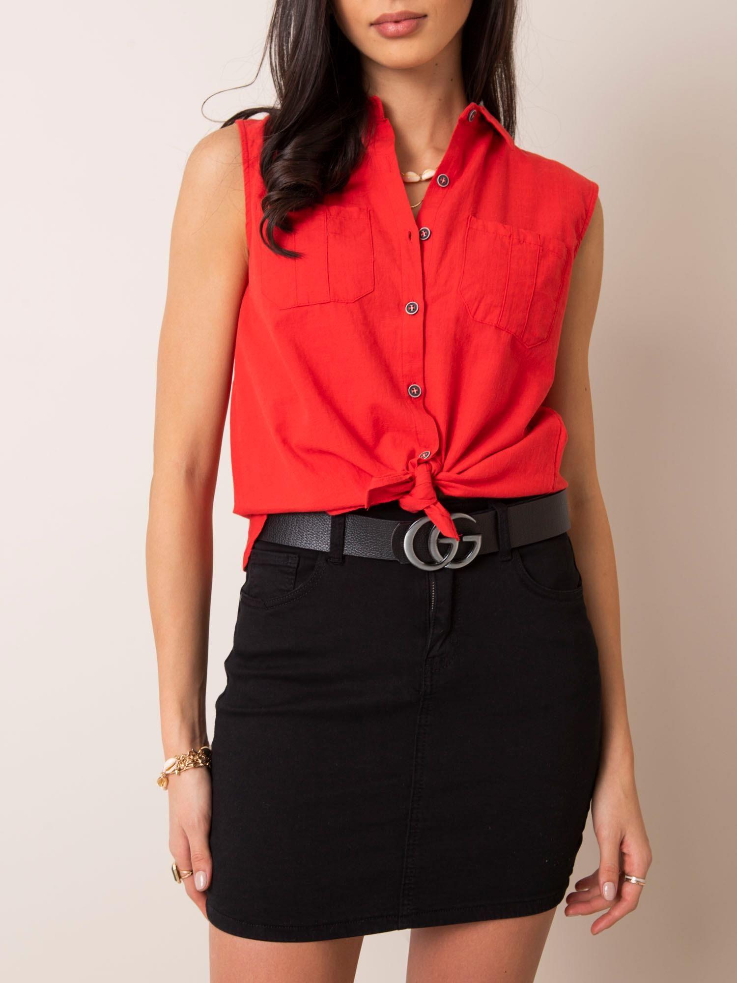 Čierna džínsová sukňa - L