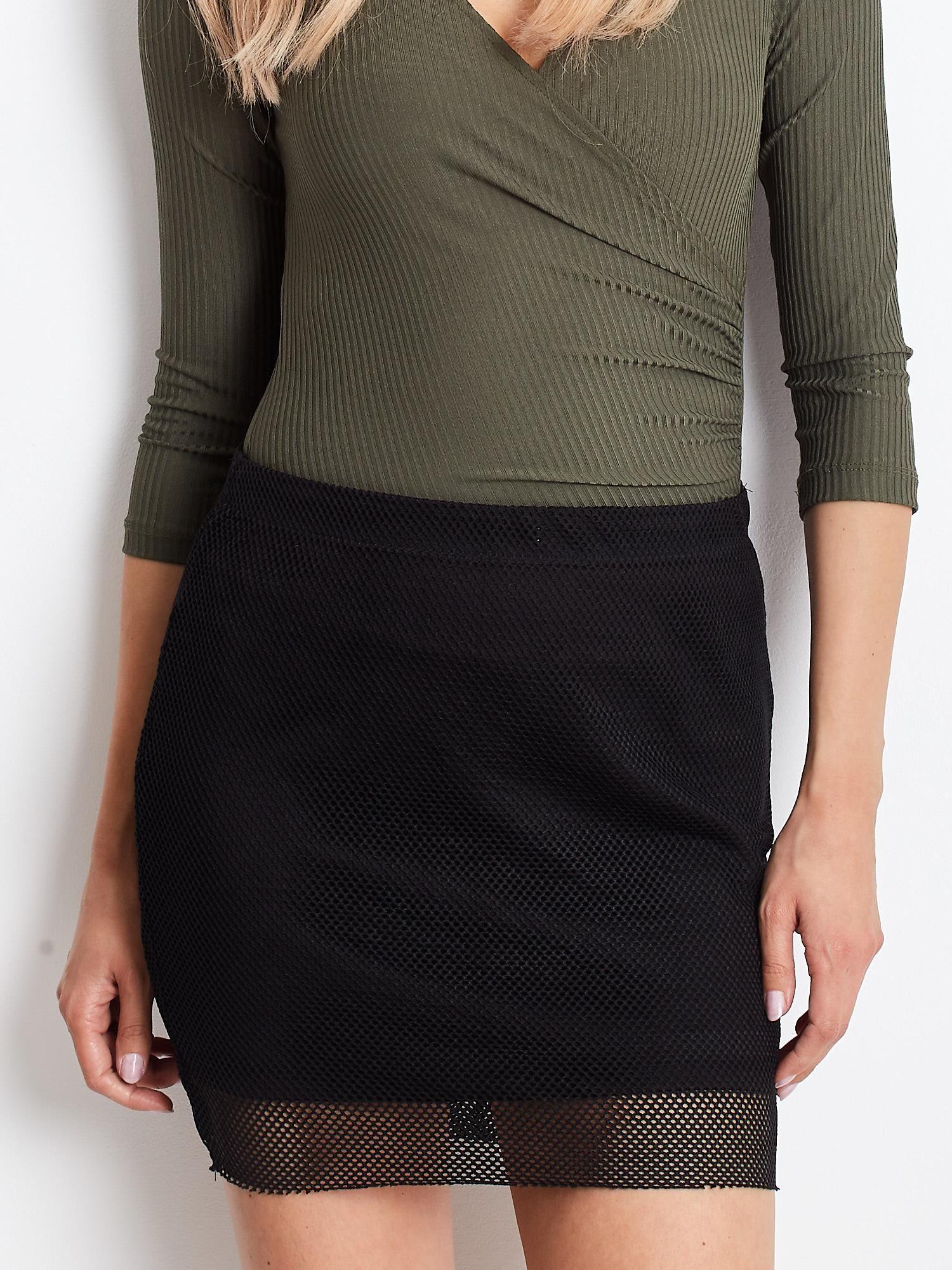 Mini sukňa v čiernej farbe - XS