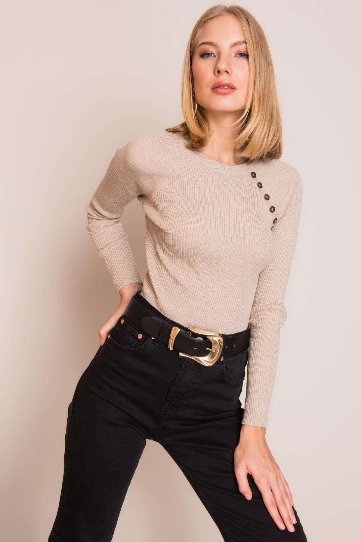 Dámsky béžový sveter - S