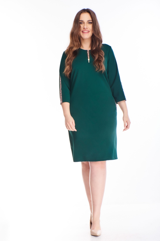 Dámske koktejlové šaty s lesklým pruhom zelené - 42