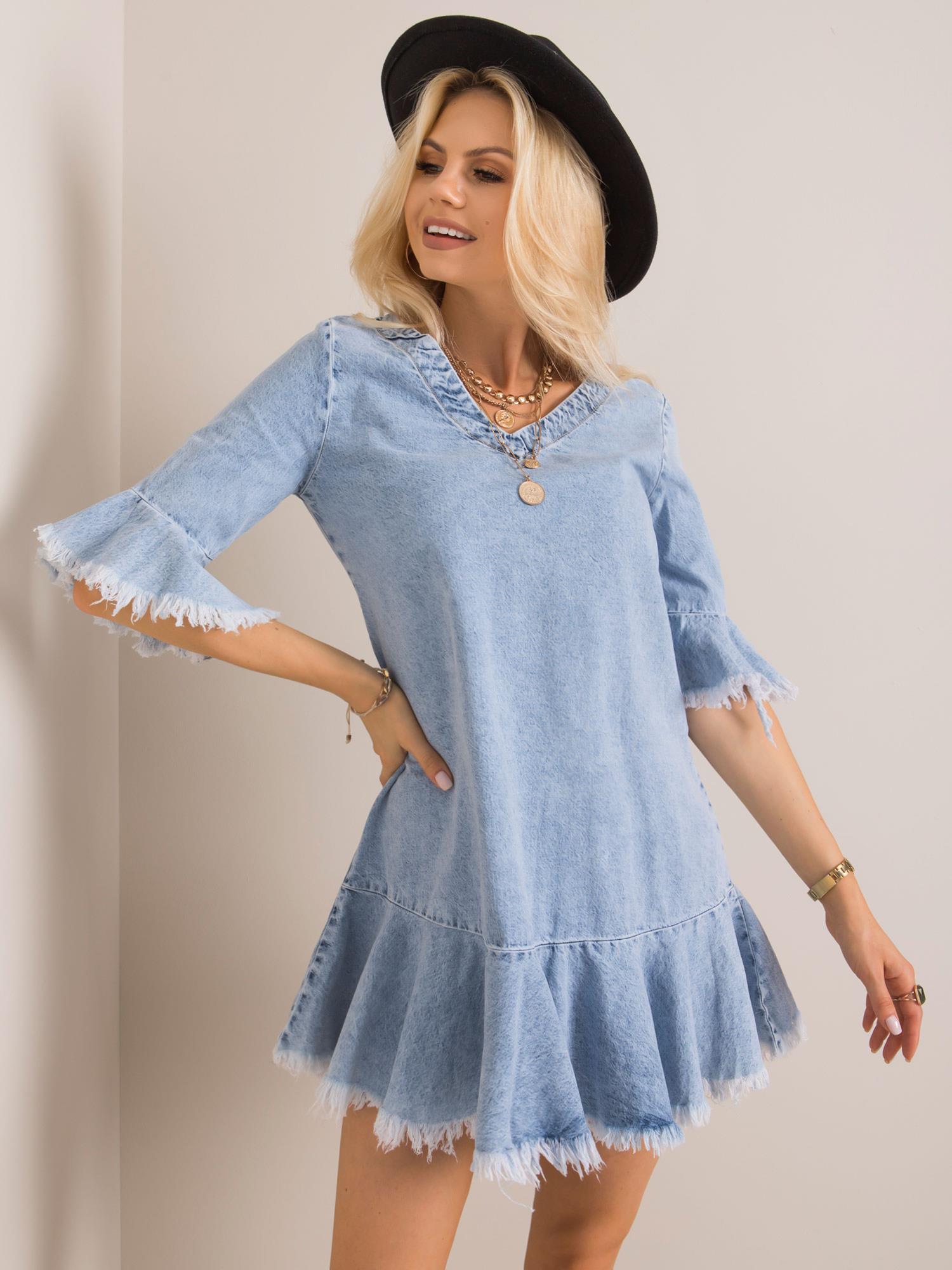 Svetlomodré riflové šaty - L
