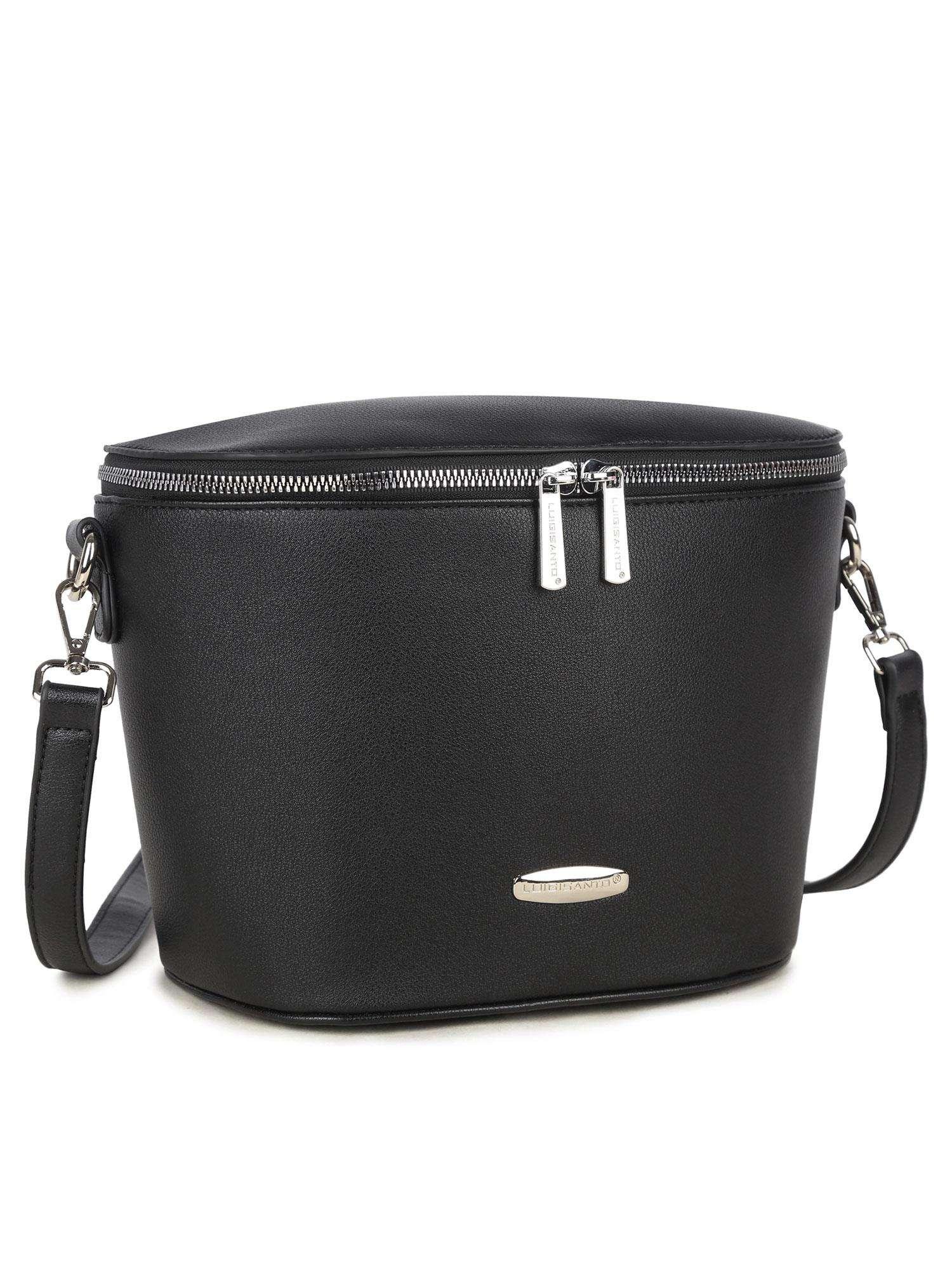 Dámska čierna kabelka na zips - UNI
