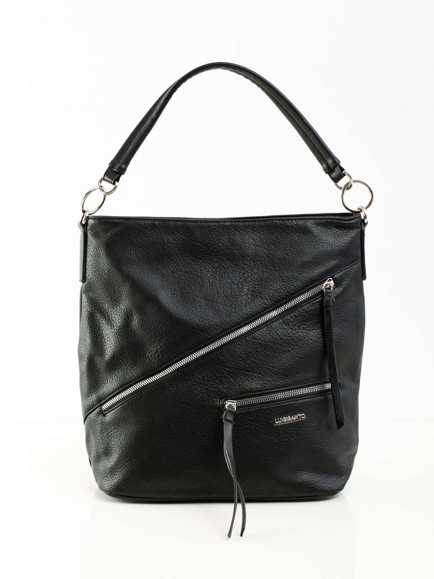 Dámska čierna kabelka s vreckami - UNI