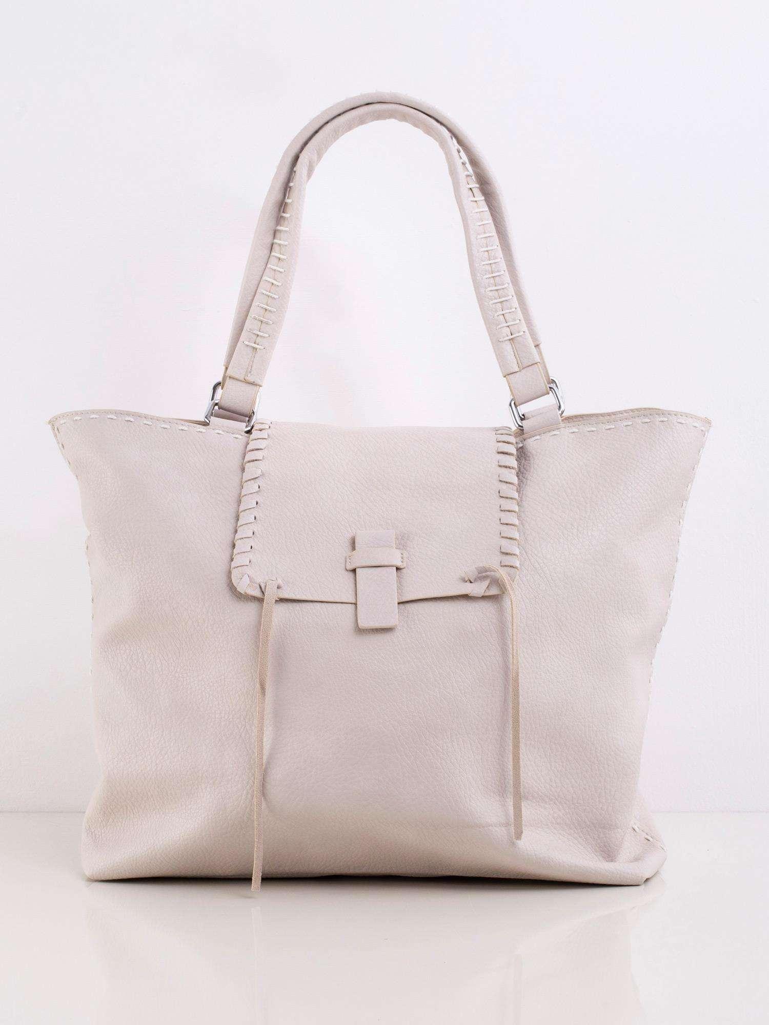 Veľká béžová kabelka na rameno - UNI
