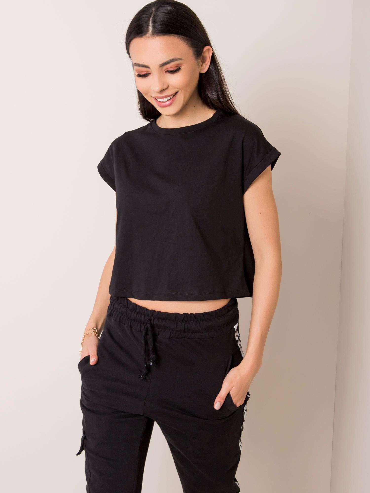 Čierne dámske tričko - L