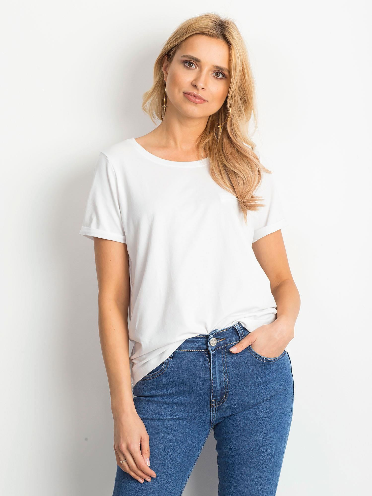 Dámske biele bavlnené tričko - XS