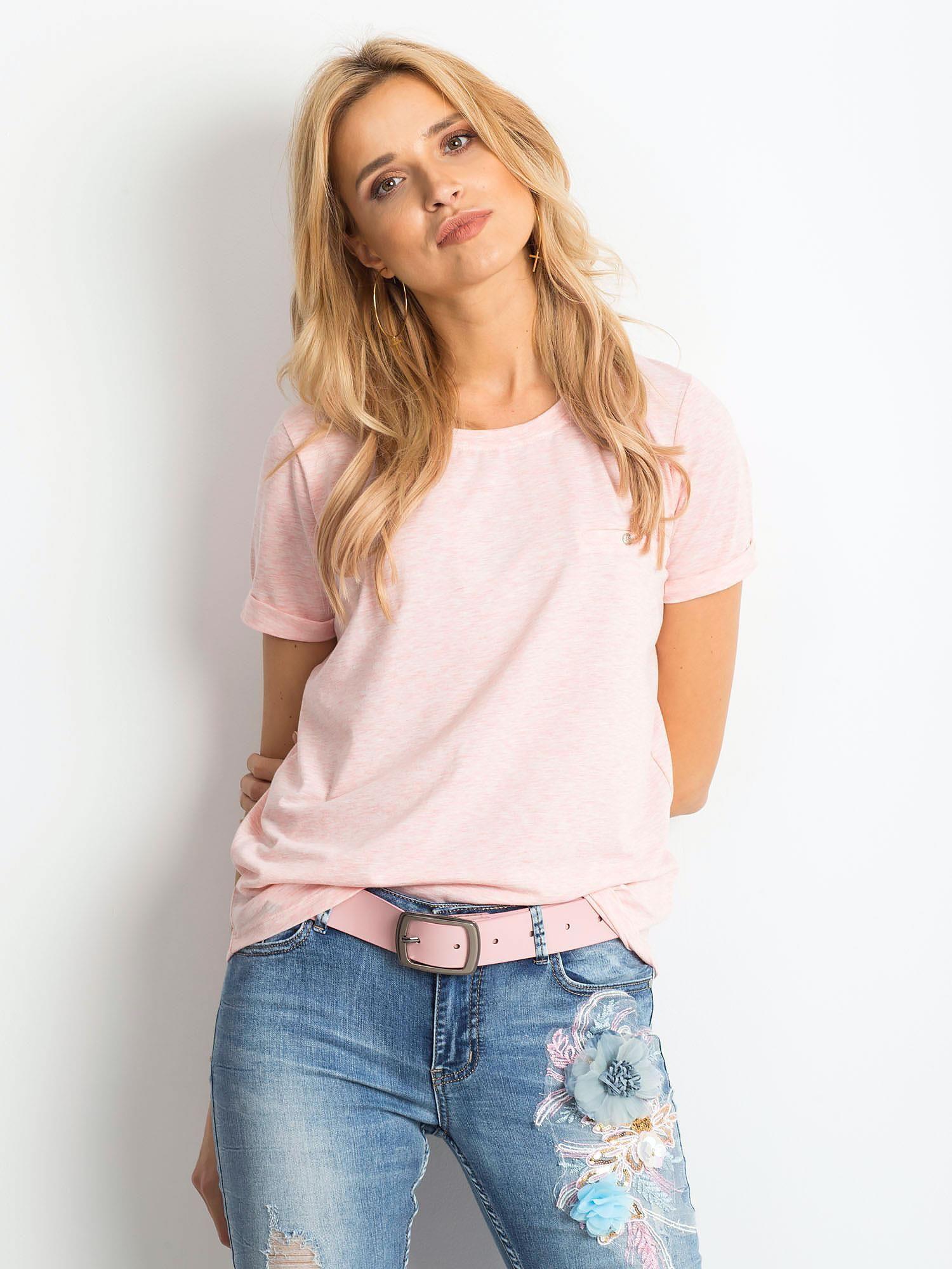 Dámske ružové bavlnené tričko - L