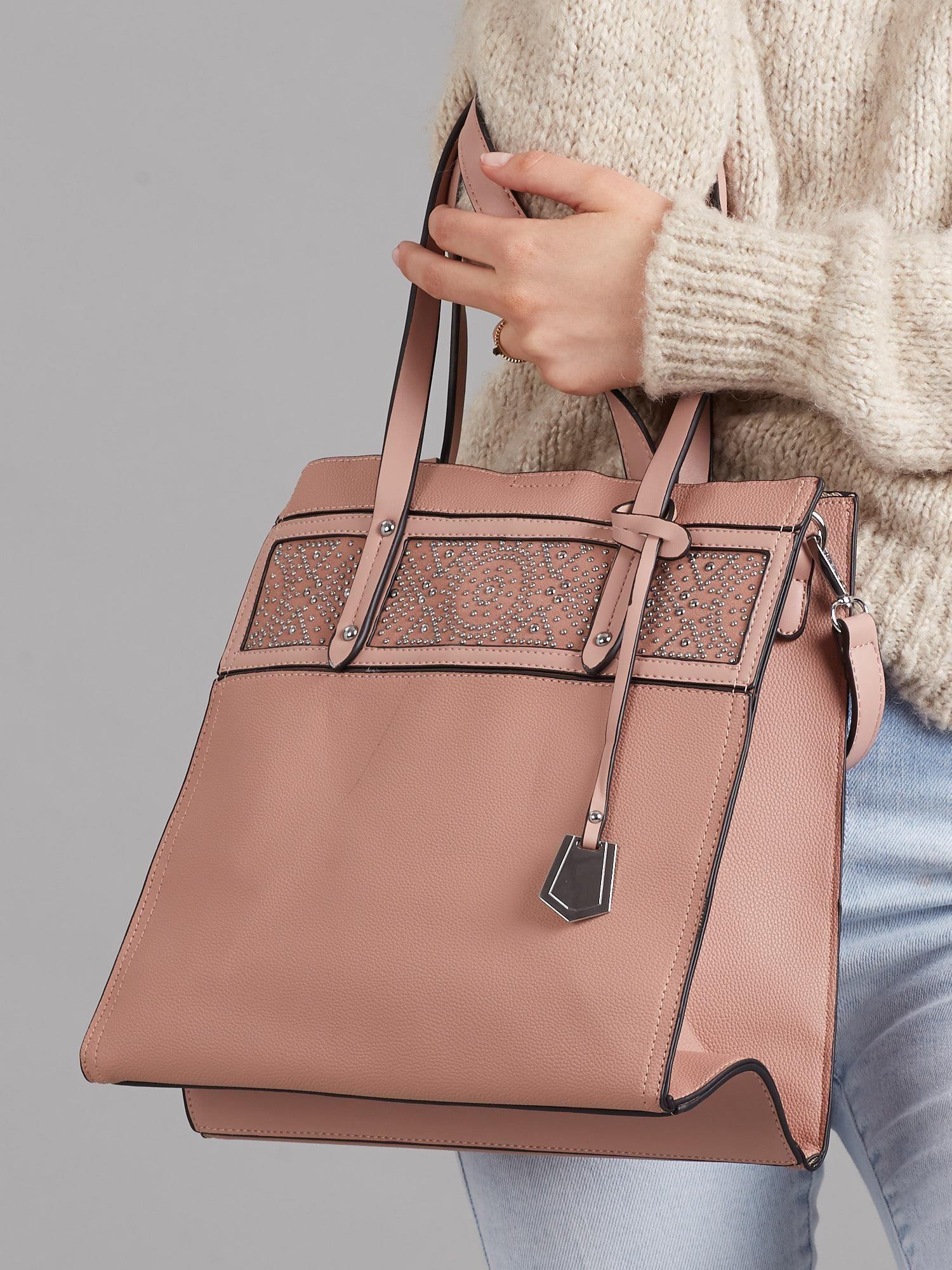 Elegantná ružová kabelka so vzorom - UNI