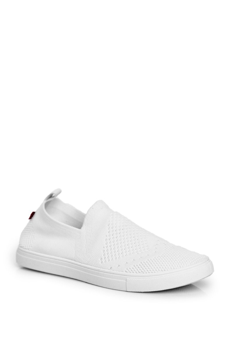 Pohodlné dámske tenisky v bielej farbe - 38