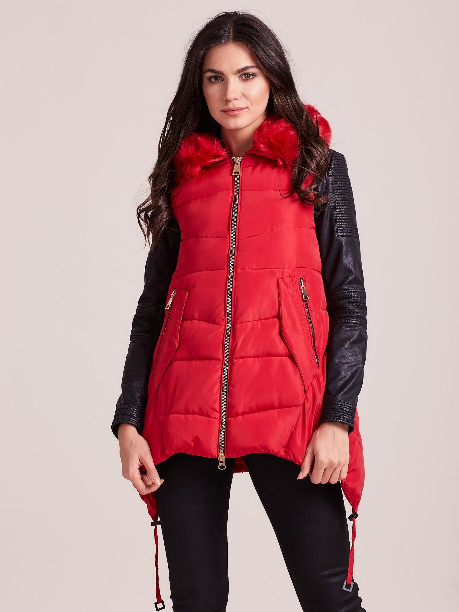 Červená prešívaná vesta - XL