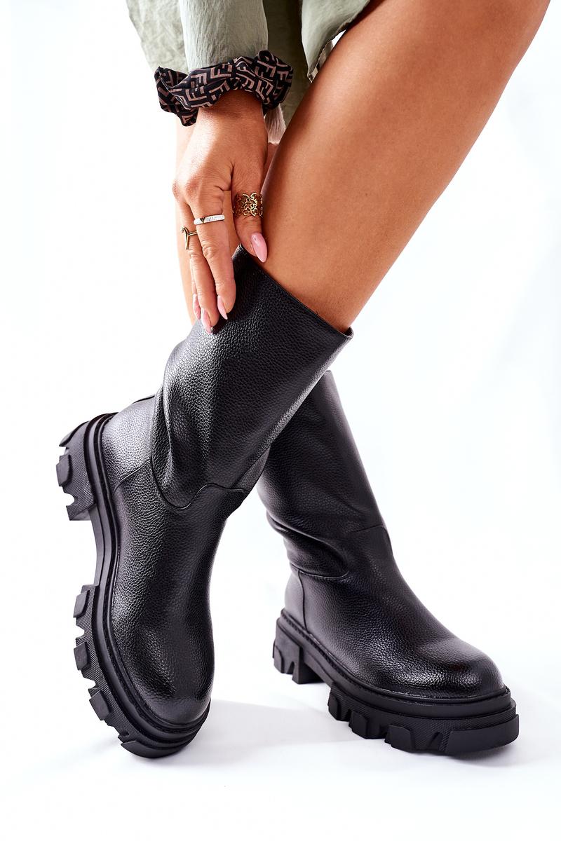 Dámske čierne členkové topánky - 40